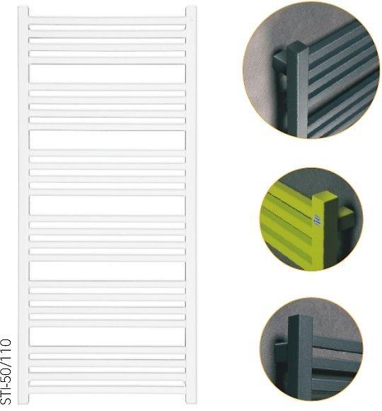 STICK - kwadratowy grzejnik do prostej łazienki. Dostępny model z powłoką galwaniczną.
