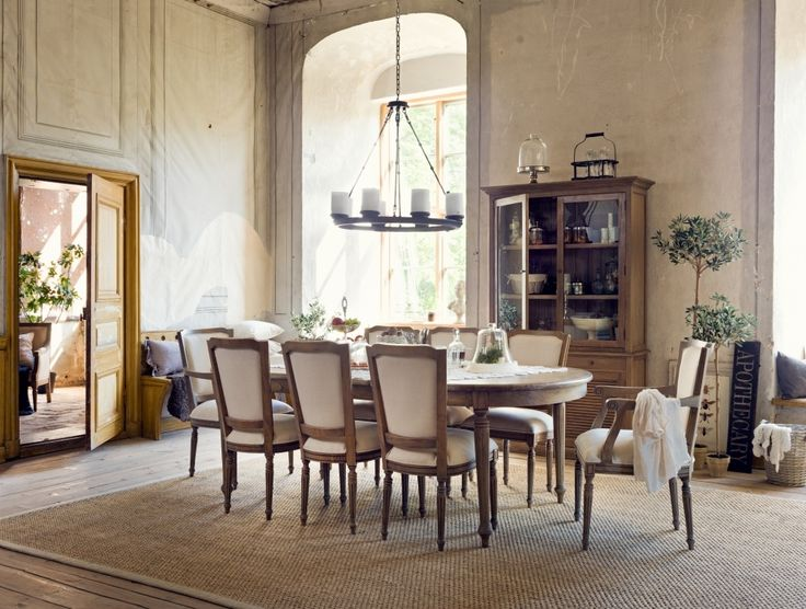 A PROVENCE inspired dining area. Dine with an air of periodic elegance.