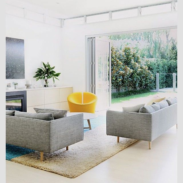 Love these 'Nook' sofas by Jardan. Also love the way this room opens up to a beautiful garden. #interiors #inspiration #ideas #furniture #home #homelove #jardan #decor #design #decorating #sofas #thingsilove #newhouse #exteriors #outdoors