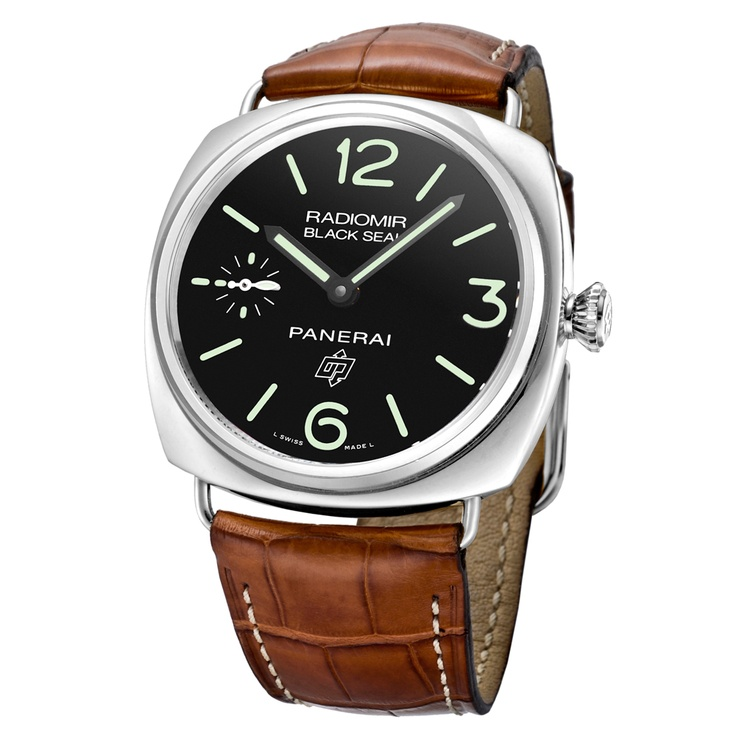 "Pre-Owned Panerai ""Black Seal"" Logo Manual Steel (PAM00380)"