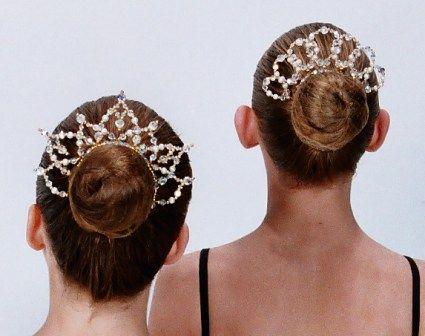 Ballet Headpiece Bun Tiara - Becstar Jesse Crystal
