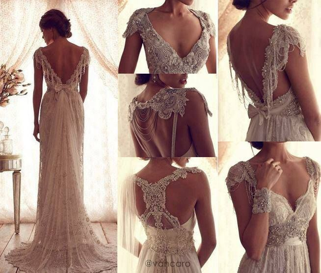 Vintage wedding dress by Anna Campbell