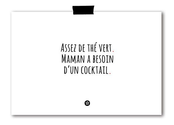 Carte Maman a Besoin d'un Cocktail