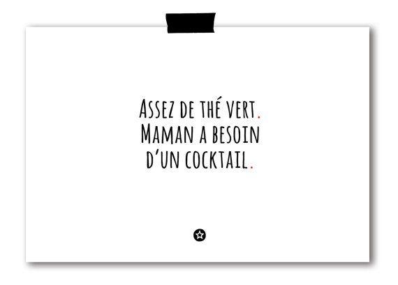 Carte Maman a Besoin d'un Cocktail