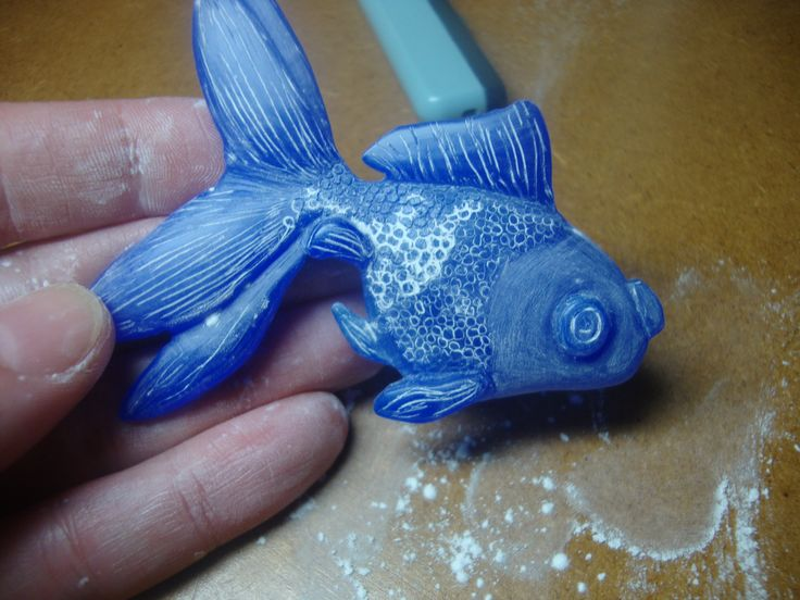 Wax carving. could also use bar soap.
