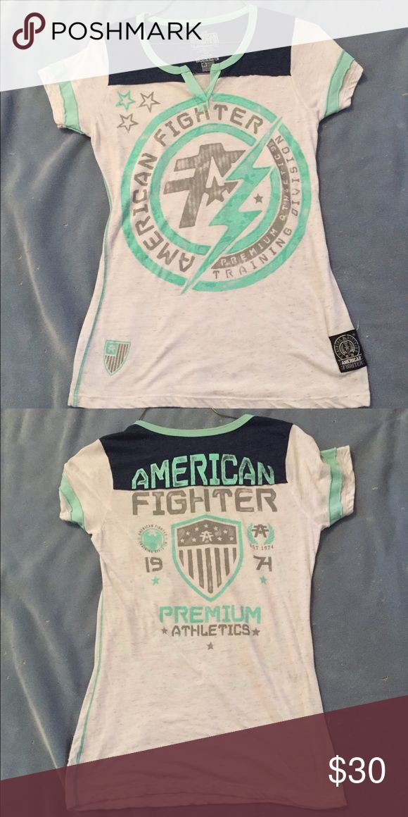 Women's large American Fighter short-sleeve shirt Perfect condition. Only worn a few times! American Fighter-Buckle Tops Tees - Short Sleeve