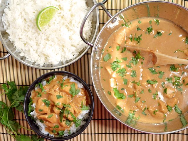 Chicken in peanut sauce - this was good, for what it was.  I just don't think I'm personally a fan of coconut milk in savory dishes.