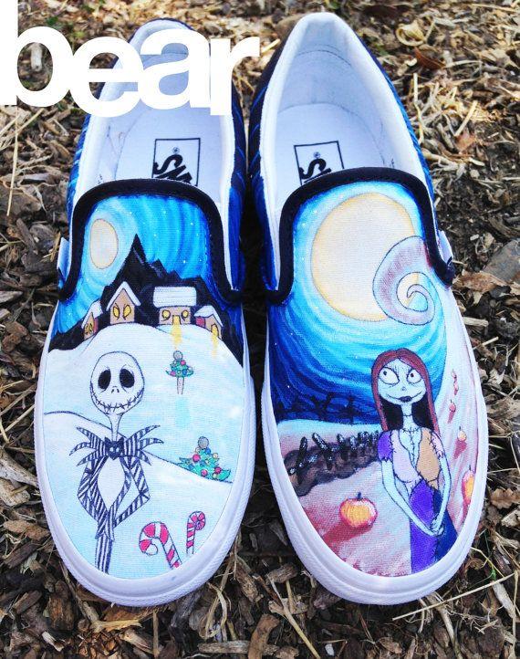 custom vans shoes | Custom Vans Shoes Nightmare Before Christmas by ...