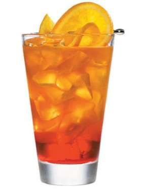 Ingredients: 1 1/2 oz Martini & Rossi Rosso Vermouth2 oz. Orange Juice1 oz. Cranberry Juice1/4 oz. G... - Provided by Marie Claire