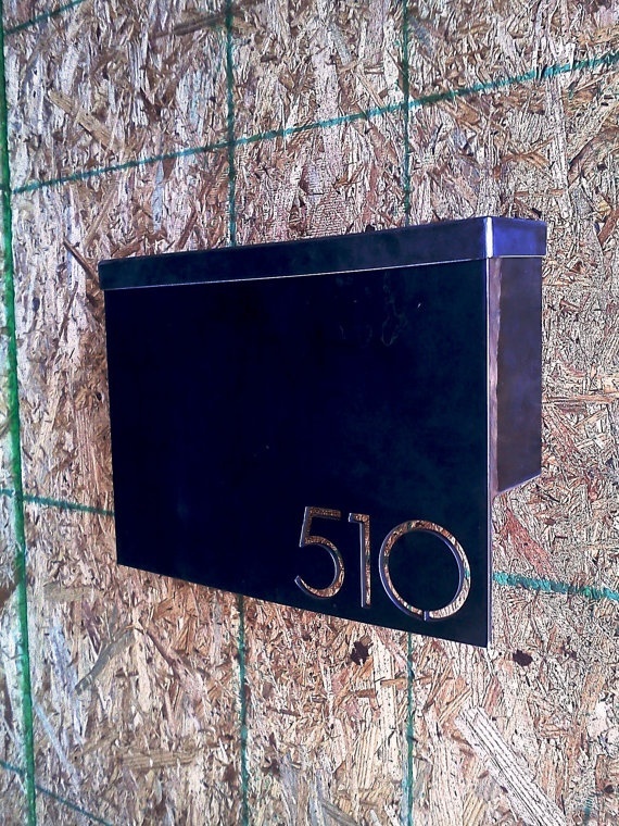 MB1 Modern Mailbox with Address Plaque by austinoutdoor on Etsy, $275.00
