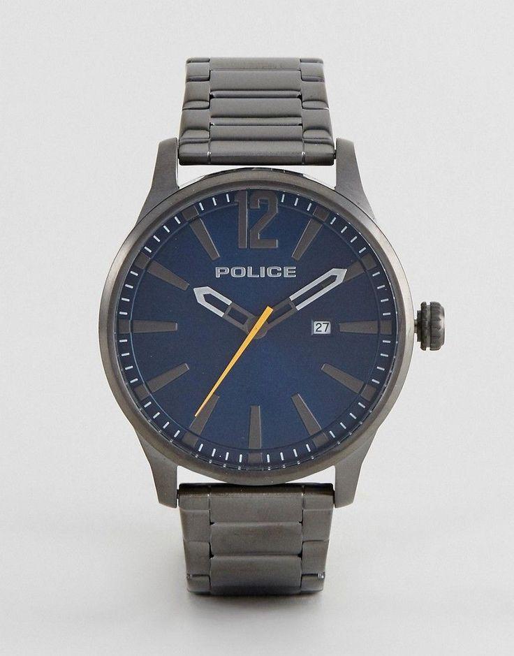 Police Dallas Watch With Black Stainless Steel Bracelet - Black