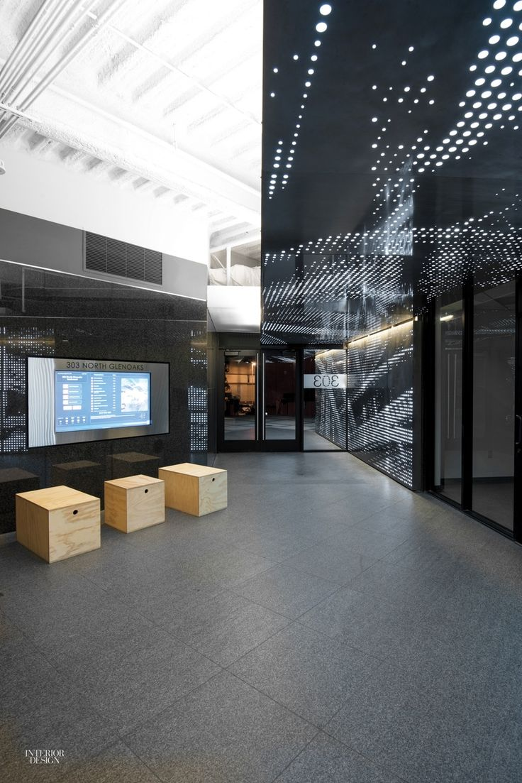 Patrick Tighe Jazzes Up Two Generic Office Buildings With Sleek Lobbies