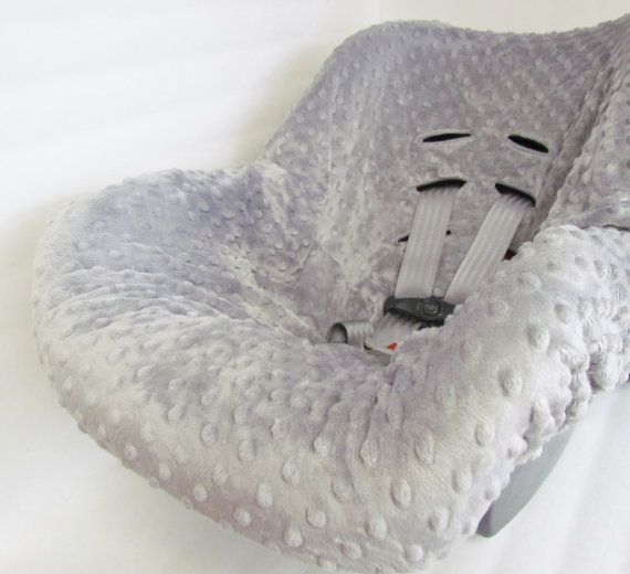 Infant Car Seat Cover liner Minky Dimple Dot by BrightEyedOwl