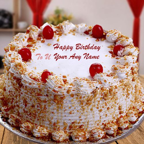 Butterscotch Birthday Wishes Name Cake Photo Send