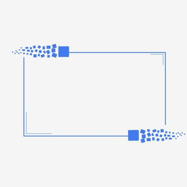 Blue Minimalistic Square Tech Element Square Frame Technology Png And Vector With Transparent Background For Free Download Business Poster Transparent Background Technology