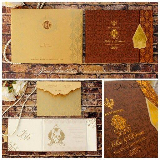 Vinas invitation . Traditional. Wedding invitation. Wedding design . Flower theme. Shabby chic design. Any question pls visit us at website www.vinasinvitation.com.  Courtesy of Icha & Dimaz