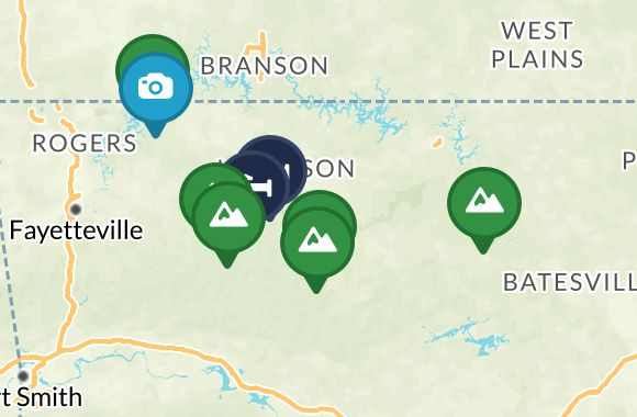 Offbeat Guide to the Ozarks Map