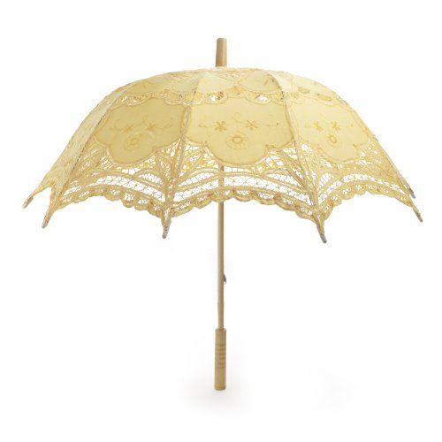 TOPTIE Lace Umbrella, Wedding Yellow Battenburg Parasol, Christmas Gift TopTie http://www.amazon.com/dp/B001SWFZRC/ref=cm_sw_r_pi_dp_BF9rwb1H05H0J