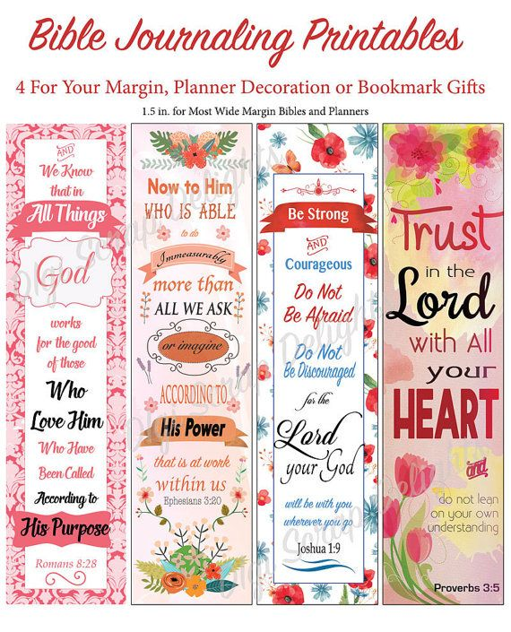 Bible Journal Or Planner Printables For Wide Margins