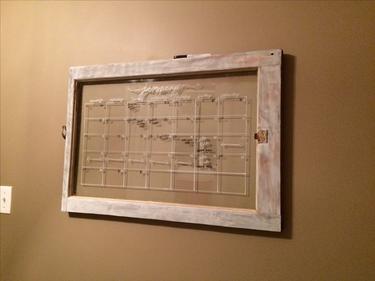 Repurposed old window frame