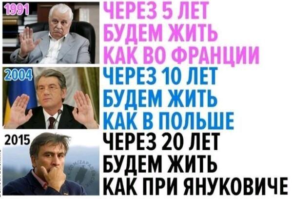 Саакашвили: к показателям времен Януковича Украина придет через 20 лет http://rian.com.ua/