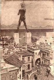 The Colossus of Rhodes was built around 292-280 B.C. It was destroyed by earthquake in 225 making the Colossus of Rhodes the shortest lasting of all the 7 wonders. The statue was of the god Helios.