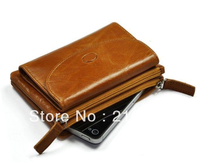 100% genuine leather lady wallet wholesale, korea style classics elegance women purse, quality brand Liams fashion zipper wallet