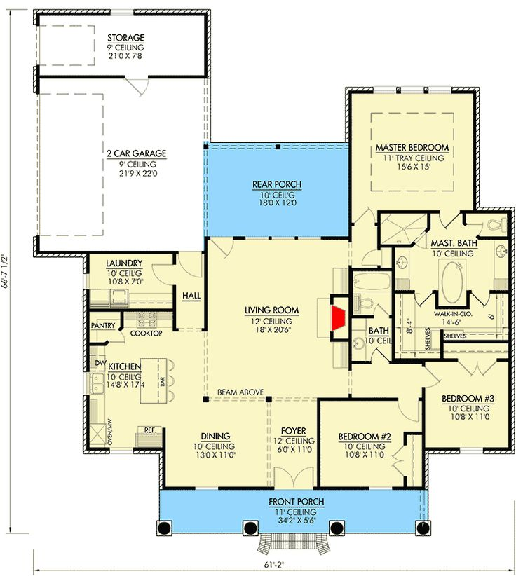 Southern Home Plan with Open Layout - 56349SM | 1st Floor Master Suite, Acadian, Butler Walk-in Pantry, Corner Lot, European, French Country, PDF, Photo Gallery, Southern | Architectural Designs
