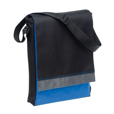Leading Edge Upright Satchel. Featuring a business card holder on back, double contrast stitching on front flap, contrast colour lining under front flap. 27cm w x 37cm h x 6.5cm d. 7.5 litres. Basic organiser with 3 pen holders under front flap. Adjustable shoulder strap. Colours: Black/Black/Cool Grey 10 | Black/Cool Grey 10/Orange | Black/Cool Grey 10/red | Black/Cool Grey 10/Royal. (1136_LEGEND)