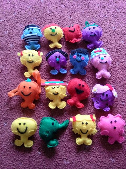 Mr Men Little Miss felt toys decorations My Guide To Home Made