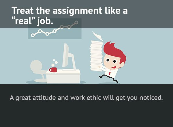 17 Best images about Turn an Assignment into a Job Offer on - job offer