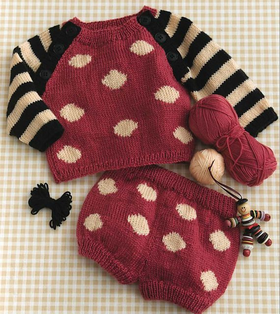 Ravelry: #54 Circles & Stripes Set pattern by Gayle Bunn