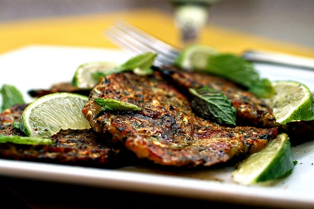 Baked zucchini fritters with feta and herbs
