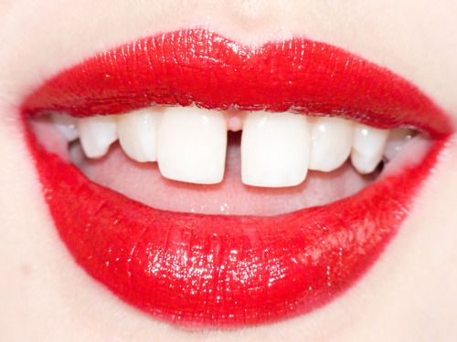 gapped teeth. love. this pout belongs to Lindsey Wixson, photographed by Terry Richardson