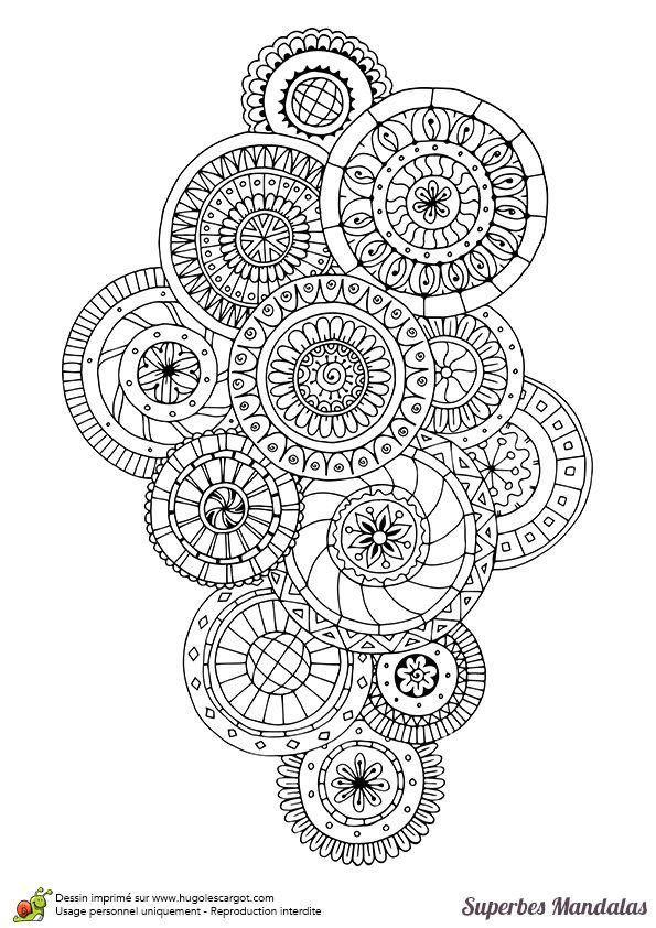 superbes mandalas groupe de cercles