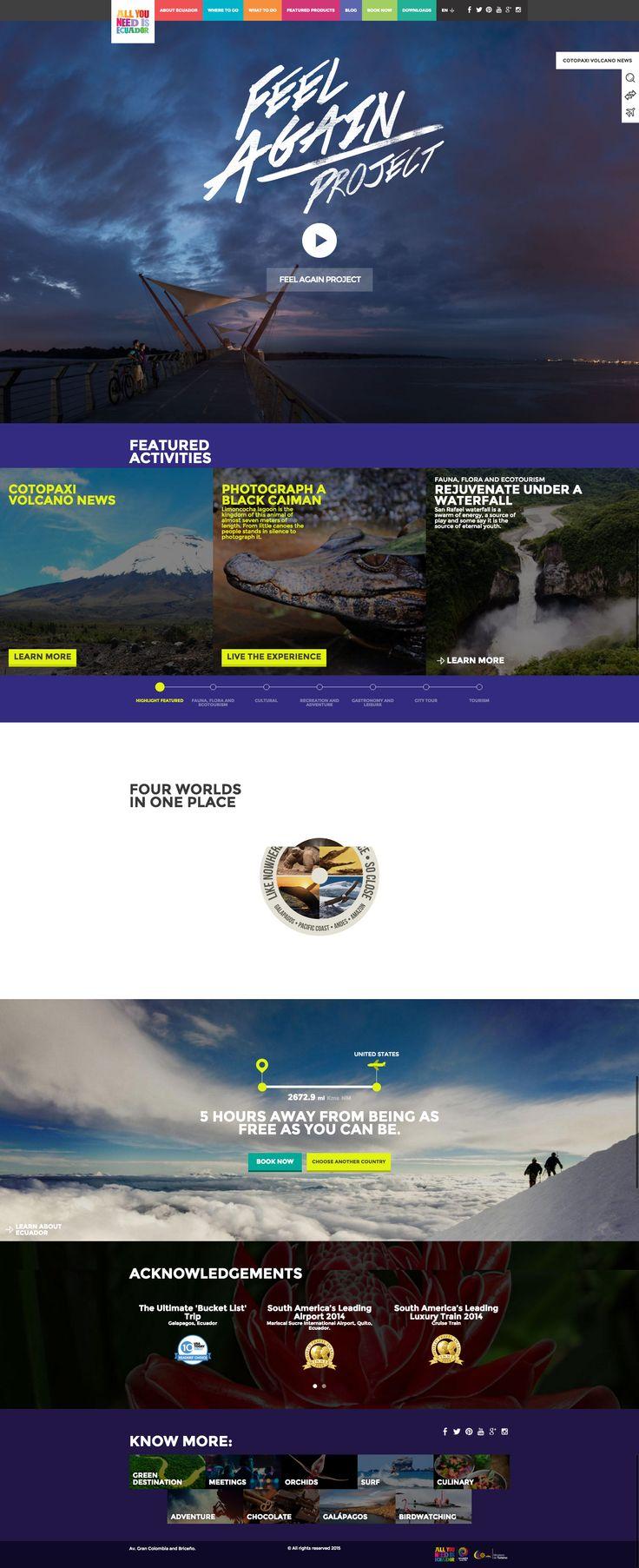 Ecuador #travel #tourism #destination website #webdesign