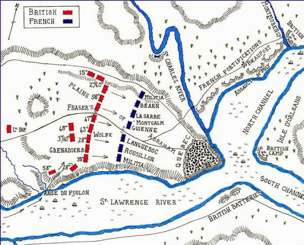 Map of the Battle of Quebec