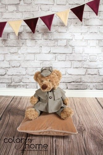 Dark Beige pillow. Do you like our teddy bear on it? :)  http://sklep.colorforhome.pl/pl/p/Poduszka-Dark-Beige-/165