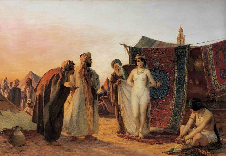 Pilny, Otto, (1866-1936), Scenes from the Slave Market