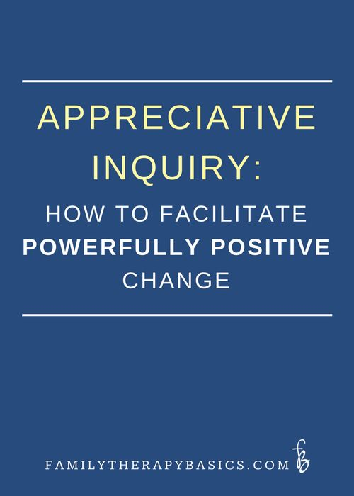 "Appreciative Inquiry (AI) is an approach to change that invites ""what gives  life"" to people and systems to be noticed, discussed, and owned.  This  specific style of inquiry involves, ""the art and practice of asking  questions that strengthen a system's capacity to apprehend, anti"