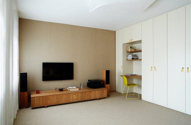 Pokoj pro hosty, kde majitel rád poslouchá hudbu.
