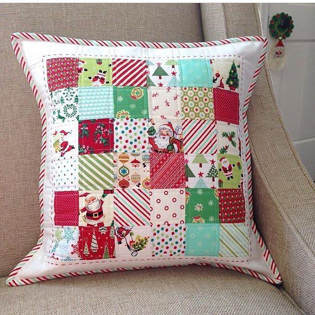 Easy Christmas Patchwork Pillows To Sew: 21 best Christmas sewing images on Pinterest   Christmas sewing    ,