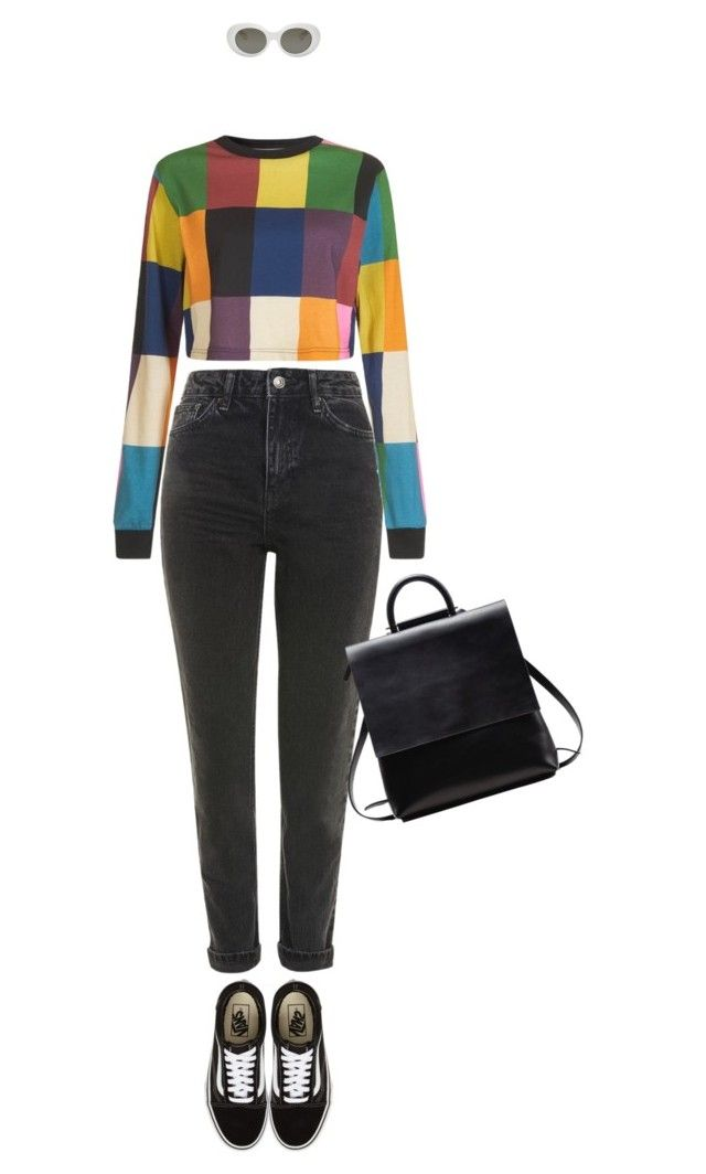 """""""dark paradise"""" by eliru ❤ liked on Polyvore featuring Topshop, House of Holland, Vans and Acne Studios"""
