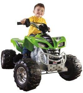 Power Wheels Kawasaki KFX – Green & Chrome