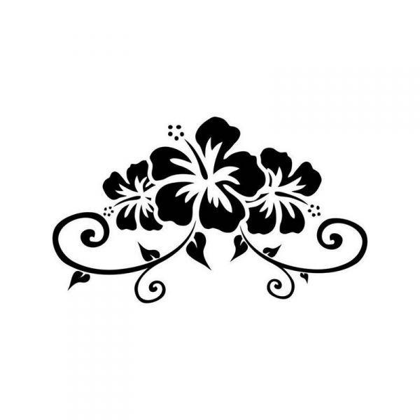 Hibiscus Flower Tattoo Stencil: 29 Best Hibiscus Hawaiian Tattoo Stencils Images On