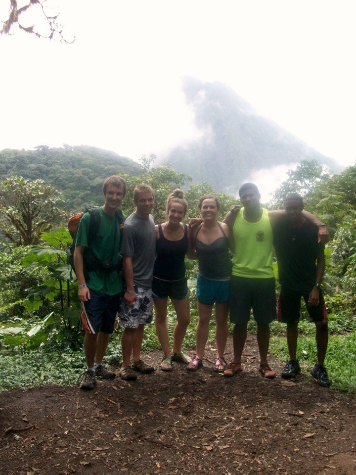 A group of students exploring Costa Rica.