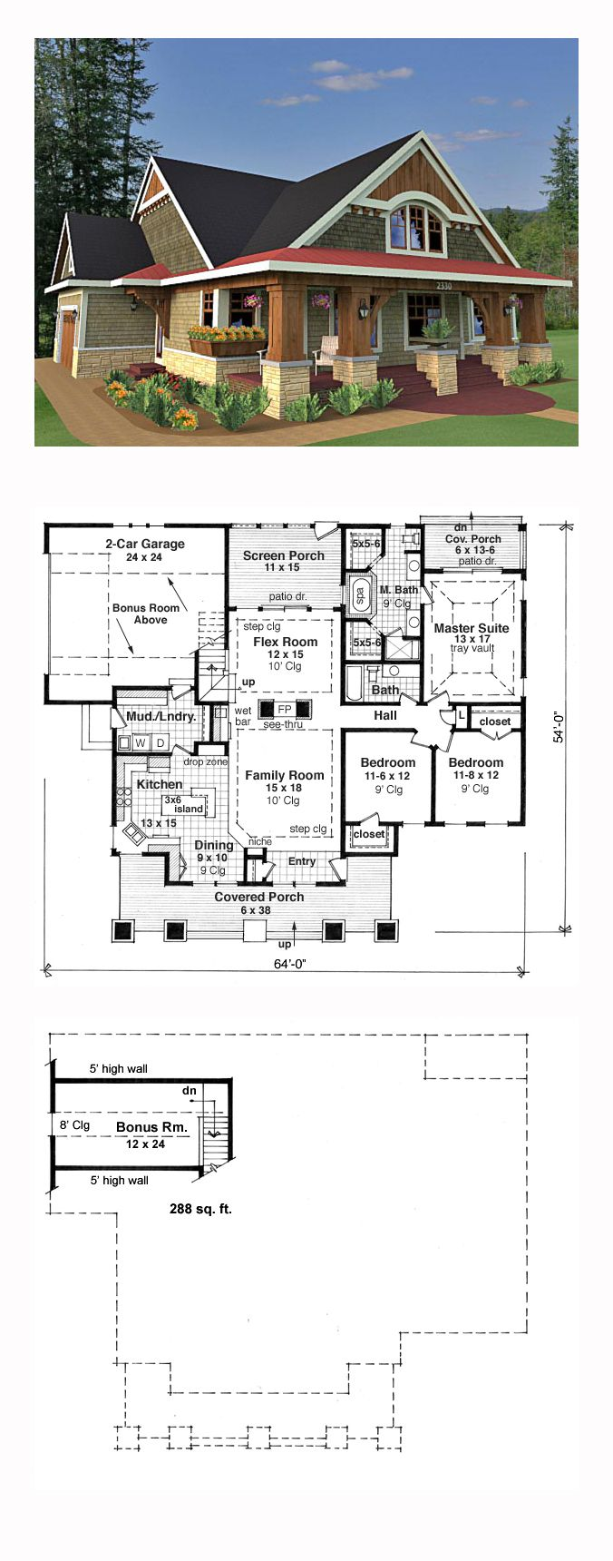 17 best bungalow house plans images on pinterest cool house bungalow style cool house plan id chp 49676 total living area 1866