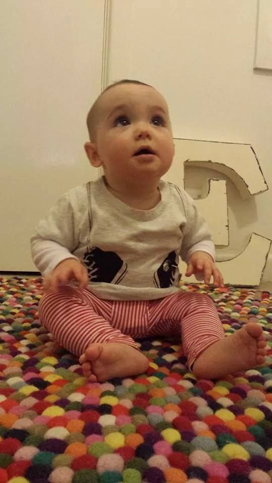 The super cute Evie in her Young and Moodie sneakers tee. All layered up for the cooler weather!
