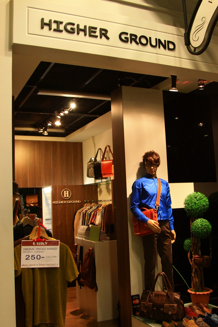 HEIGHER GROUND เสื้อผ้าเท่ห์ๆของหนุ่มๆ ชั้น2-London TERMINAL 21 Shopping Mall