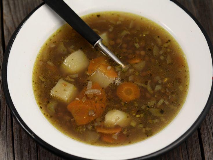Supa de linte verde Italian green lentil soup